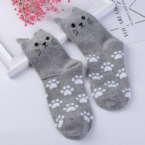 Cat Ear Socks - Fashion Cat Design