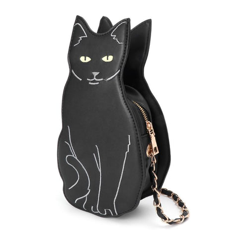Cat Shaped Purse - Fashion Cat Design