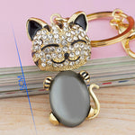 Smiling Cat Keychain