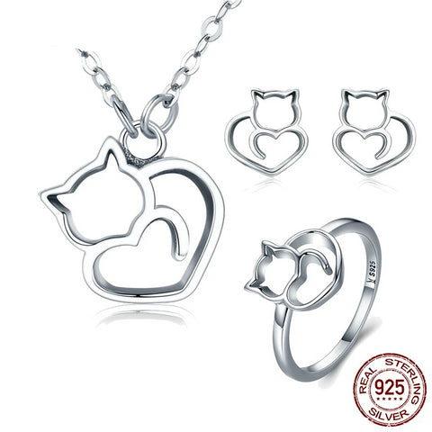 Lovely Cat </br> Jewelry Set - Fashion Cat Design