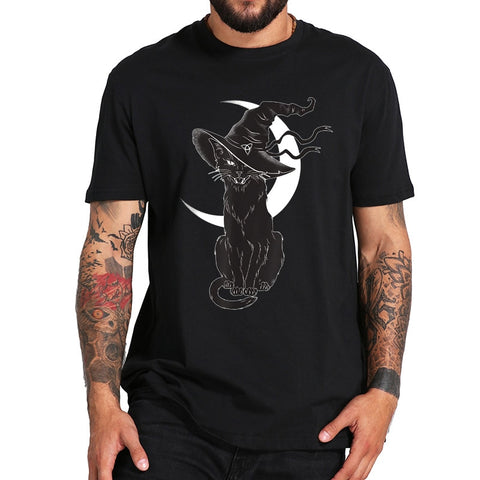 Witch Hat & Moon Cat T-Shirt