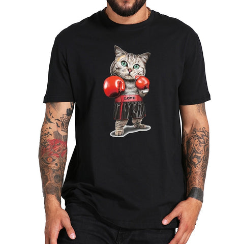 Strong Boxing Cat T-Shirt
