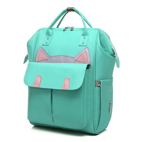 Baby Diaper Backpack - Fashion Cat Design
