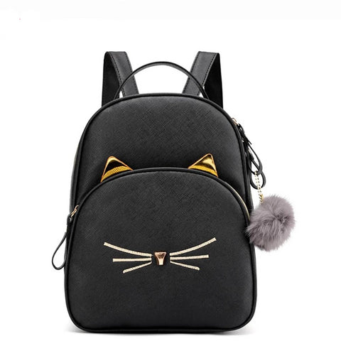 Cat School Backpack - Fashion Cat Design