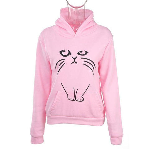 Cat Ear Sweatshirt - pink