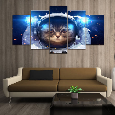 Astronaut Cat Painting