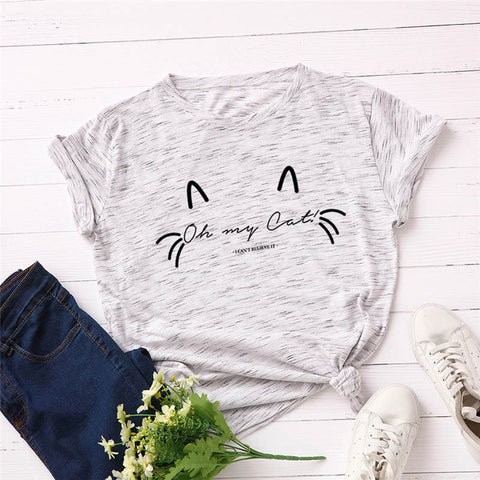 Oh My Cat T Shirt - marble