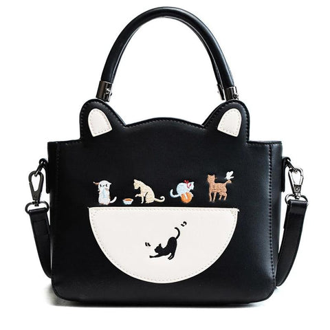 Leather </br> Cat Purse - Fashion Cat Design