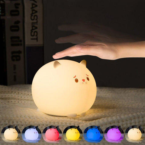 Silicone Cat Night Light - Fashion Cat Design
