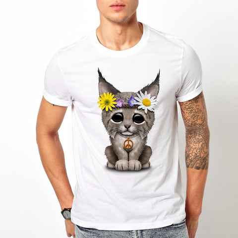 Cute Hippie Lynx T-Shirt
