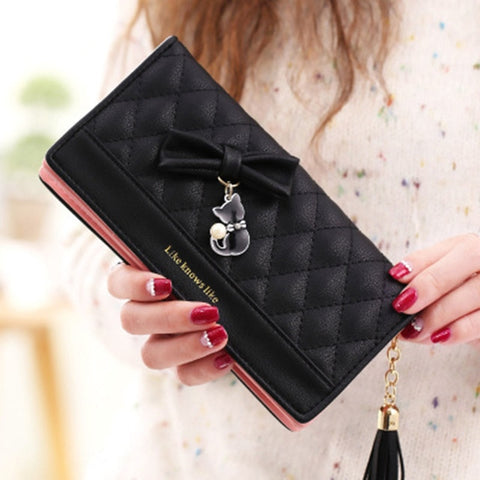 Cat Wallet Leather - Fashion Cat Design