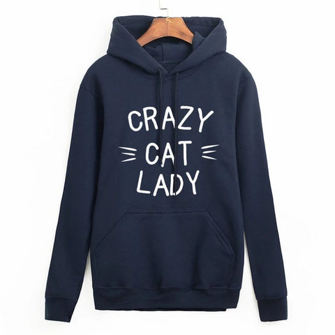 Crazy Cat Lady Sweaters - blue