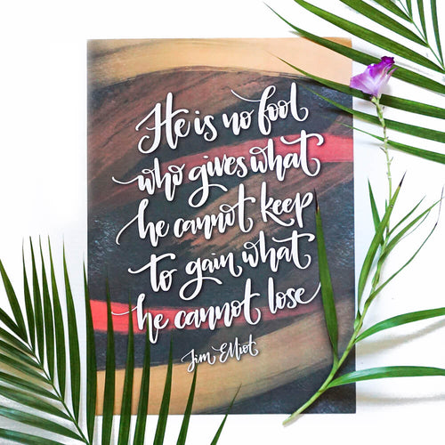 A3 Print | He is No Fool - Studio Seck