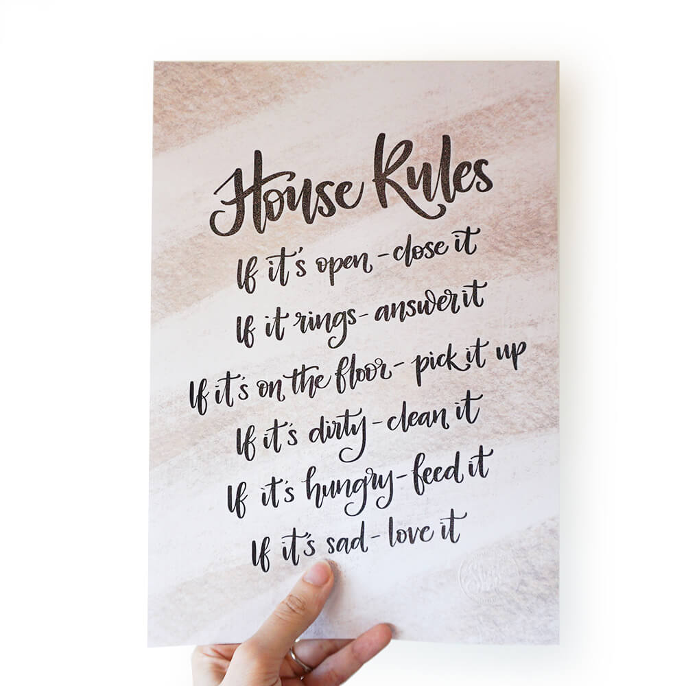 A4 Print | House Rules - Studio Seck