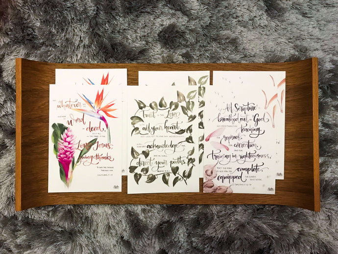Postcards of ENCOURAGEMENT- Botanical Beauty