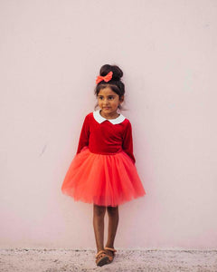 The Red Velvet Tulle Dress