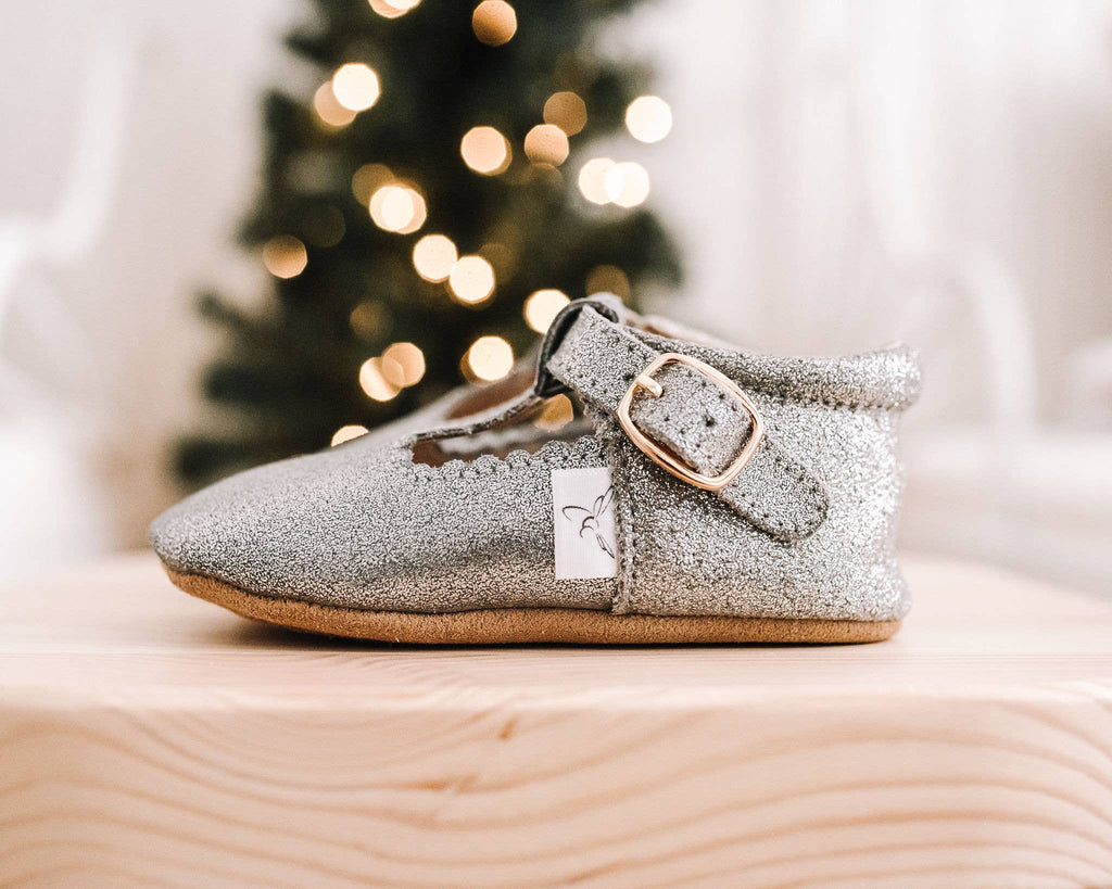 Silver T Bar Shoes