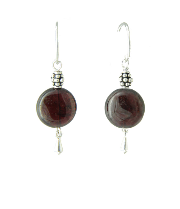 Garnet Earrings for the Root Chakra