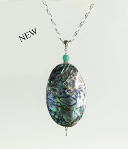 Designer Abalone and Aventurine Necklace for Throat Chakra
