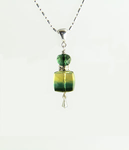 Bi-color Quartz Necklace for Heart Chakra