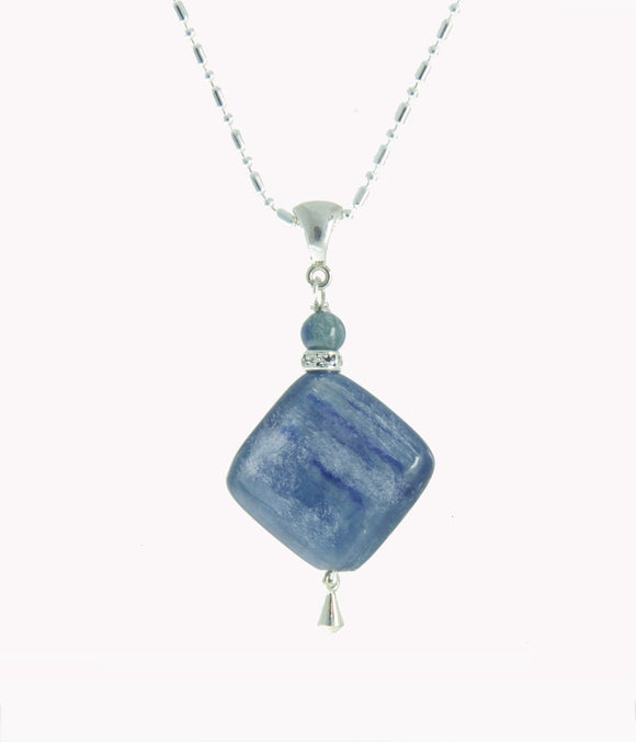 Kyanite and Sapphire Necklace for Throat Chakra