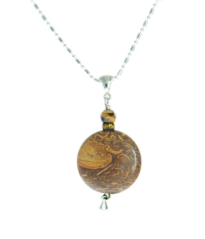 Elephant Skin Jasper Necklace for Core Chakra