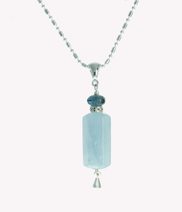 Aquamarine Necklace for Throat Chakra
