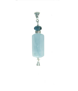 Aquamarine Pendant for Throat Chakra