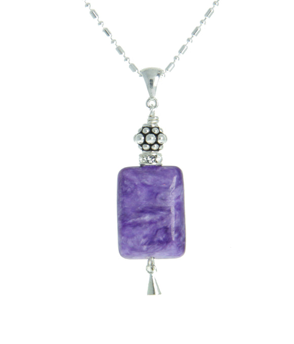 Russian Charoite Necklace for Crown Chakra
