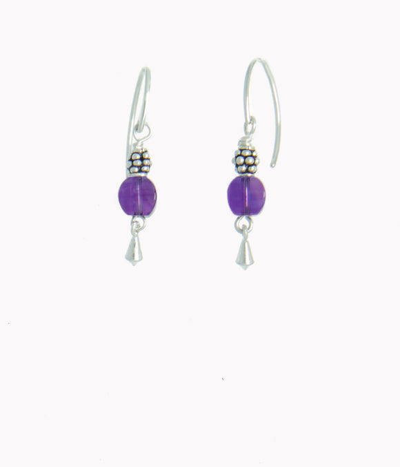 Amethyst earrings for Crown Chakra