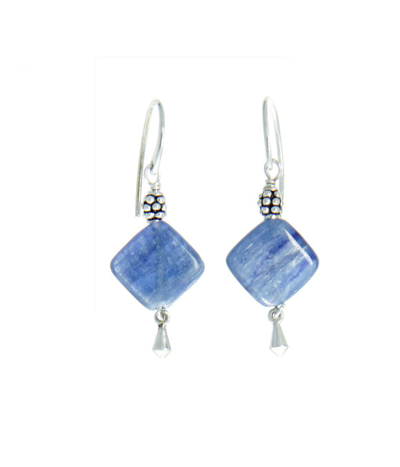 Kyanite Earrings for Throat Chakra