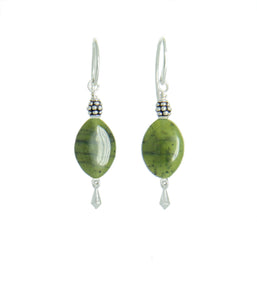 British Columbian Jade Earrings for Heart Chakra