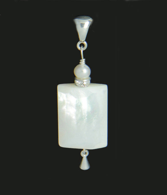 Mother of Pearl - seventh chakra pendant