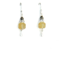 Citrine and Golden Pyrite Earrings for Core Chakra