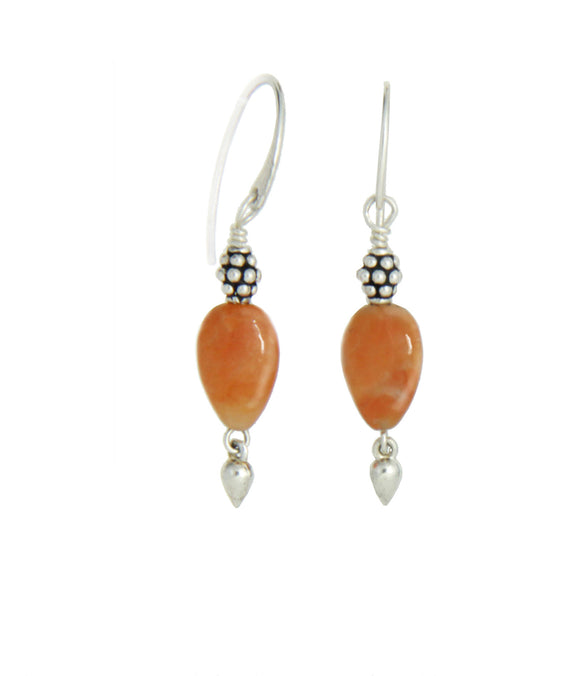 Orange Calcite Earrings for Sacral Chakra