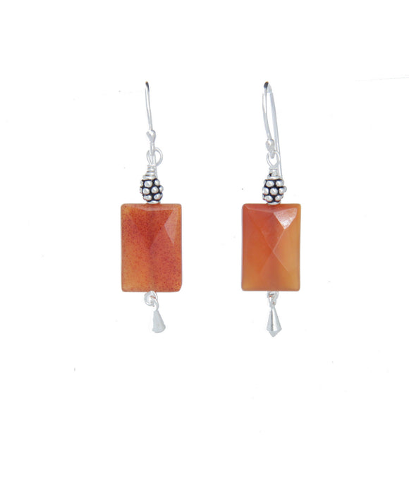 Carnelian Earrings for Sacral Chakra