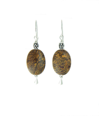 Elephant Skin Jasper Earrings - Core Chakra