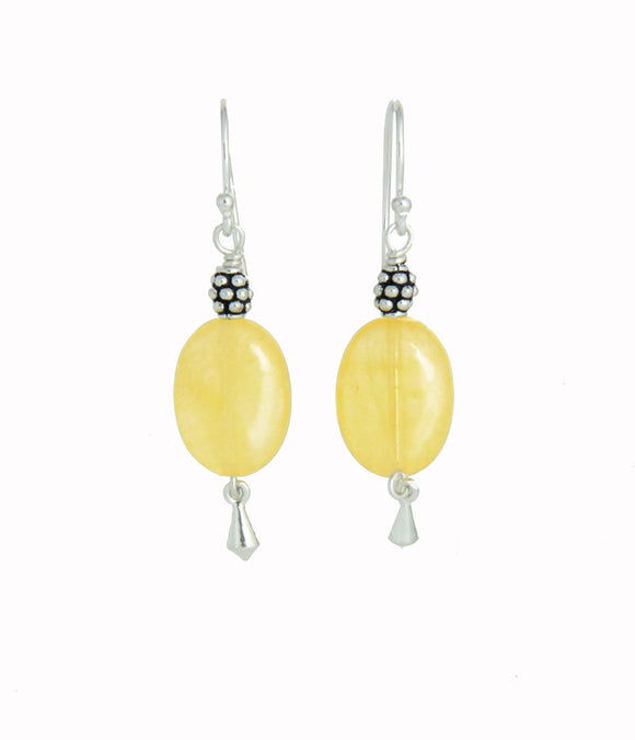 Yellow Calcite Earrings - Core Chakra