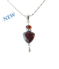Garnet Trillion Necklace for Root Chakra