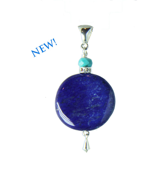 Lapis Lazuli and Turquoise Pendant for Third Eye Chakra