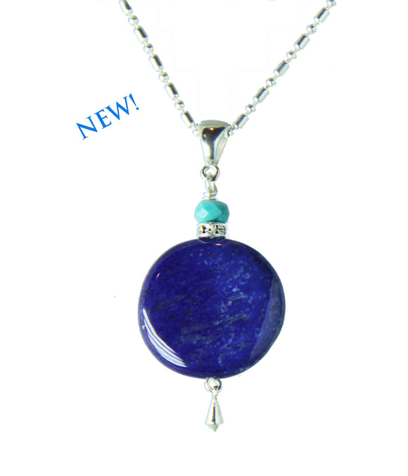 Lapis Lazuli and Turquoise Necklace for Third Eye Chakra