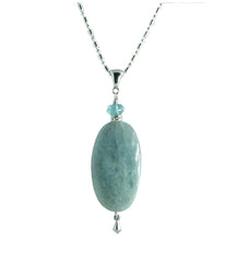 Aquamarine & Apatite Necklace for Throat Chakra