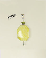 Korean Jade and Peridot Pendant for Heart Chakra