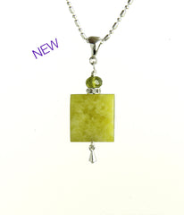Korean Jade and Peridot Necklace for Heart Chakra