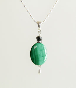 Malachite and Emerald Necklace for Heart Chakra