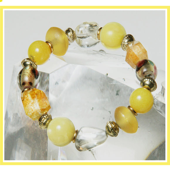 SUNSHINE STRETCH BRACELET FOR CORE CHAKRA