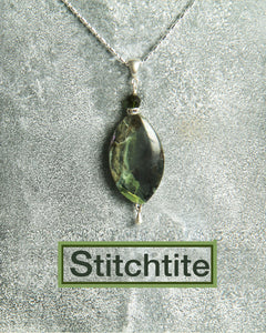 Stitchtite and Black Spinel Necklace for Heart Chakra