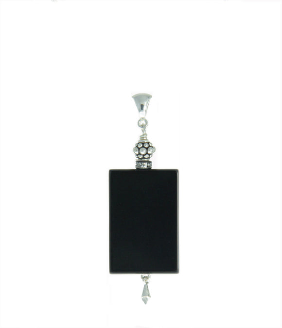 Black Onyx Pendant for Root Chakra