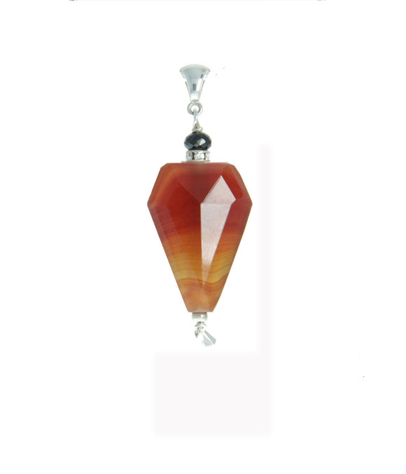 Carnelian and Black Spinel Pendant for the Sacral Chakra