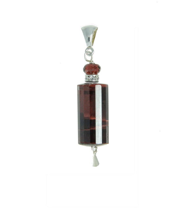 Red Tiger Eye Pendant - root chakra pendant